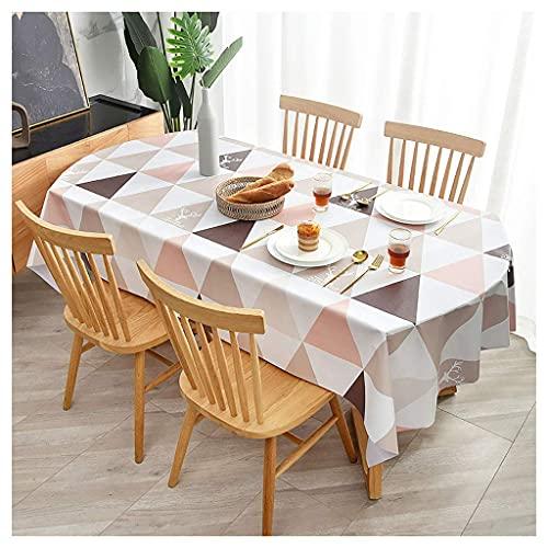 Nappe rectangulaire pour Table Ovale/oblongue, Nappe imperméable en PVC, Couverture de Table à Motif Triangulaire , pour Pique-Nique de fête à l
