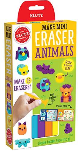 Klutz Make Mini Eraser Animals Craft Kit
