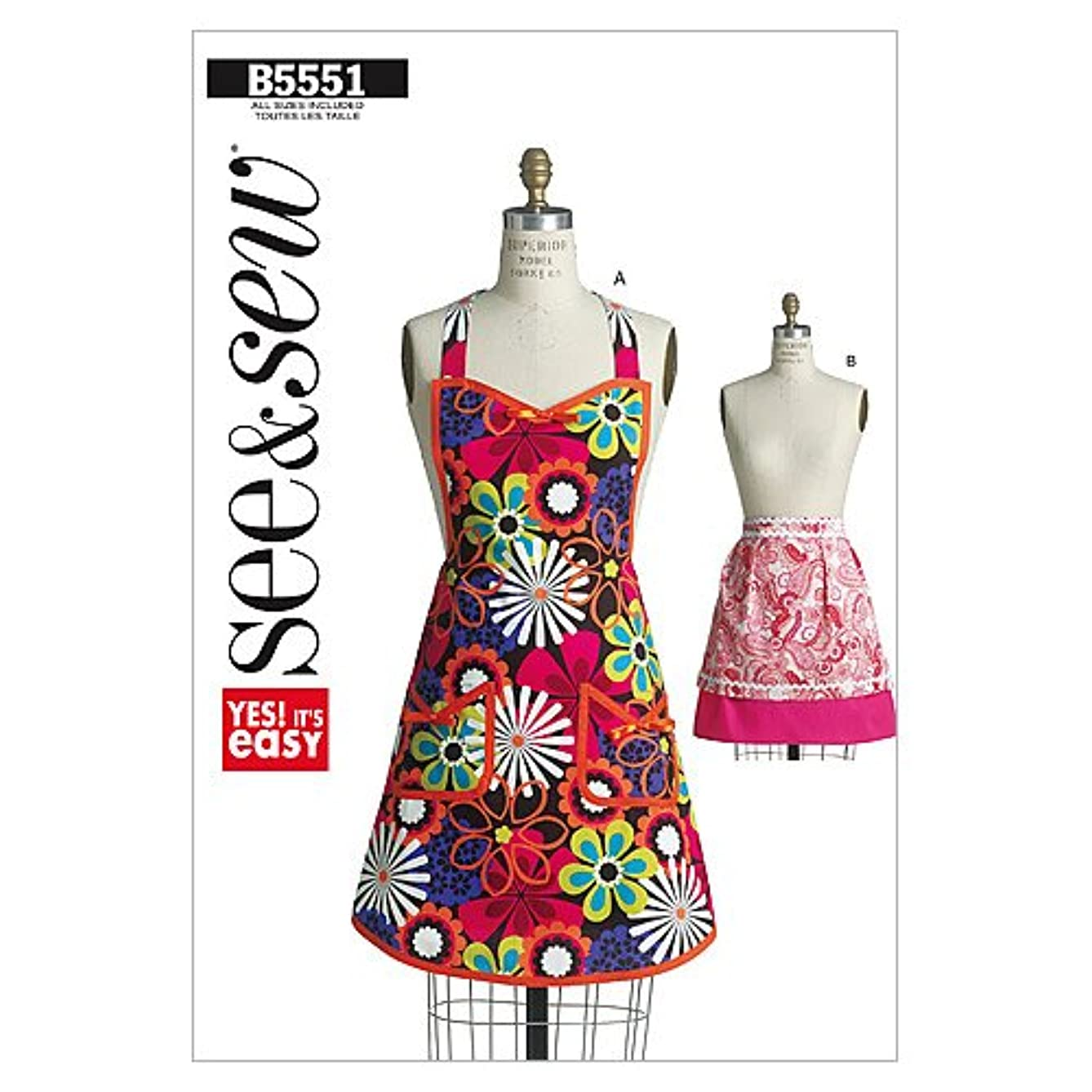 BUTTERICK PATTERNS B5551 Aprons, One Size Only