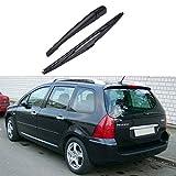 BeIilan Bras de Lame pour 307 fenêtre de Voiture 2001-2008 Fenêtre Lunette arrière Essuie-Glace de Voiture Durable Auto Parts