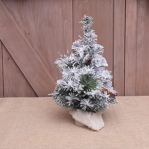 YQYAZL Mini árbol de pino de nieve, árbol de cedro, decoración de escritorio para árbol de Navidad artificial, decoración de árbol de Navidad, decoración para decorar la habitación, Navidad, A2