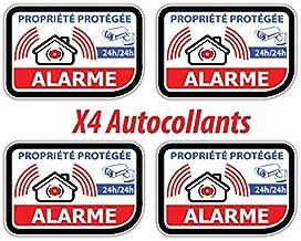 1X Autocollant sticker propriété sous surveillance vidéo anti-cambriolage