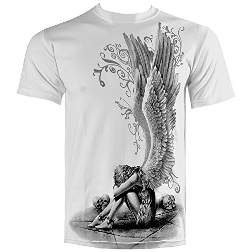 Spiral Direct Enslaved Angel T Shirt (Blanc) - Small