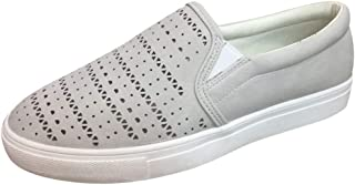 Sherostore ♡ Women's Canvas Loafer Sneaker Classic Slip on Skate Shoes Low-Top Tennis Shoes Classic Sneakers