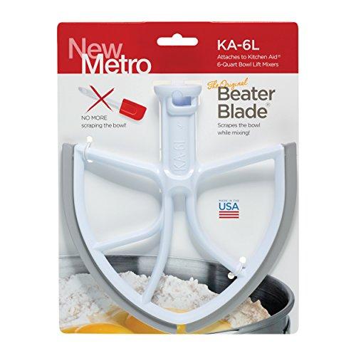 Nieuw Metro Design klopperblad voor KitchenAid 6-kwart en 5-plus mixers, wit