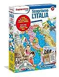 Questo fantastico gioco 2 in 1 è un puzzle fronte retro con la cartina dell'Italia fisica e politica e un divertente gioco di carte per mettersi alla prova e arricchire le conoscenze dei più importanti monumenti, della cucina tipica e di tutto quello...