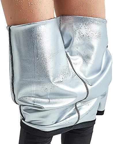 LEMENG Pantaloni di Perdita di Peso Pantaloni Sauna, Pantaloni Termici per Sudorazione,Hot Shaper Pantaloni Dimagrante in Neoprene Termico,Cintura Modellante e Dimagrante Sauna Sudore (L)
