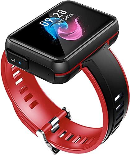 X&Z-XAOY Reloj Inteligente con Auricular Inalámbrico Reloj Inteligente con Rastreador De Ejercicios Deportivos Reloj De Pulsera Resistente Al Agua para Bandas De Reloj Inteligente iOS Android