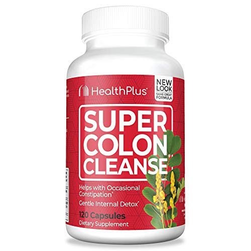 Health Plus Super Colon Cleanse: 10-Day Cleanse -Detox   3 Cleanses, 120 Count (Pack of 1)