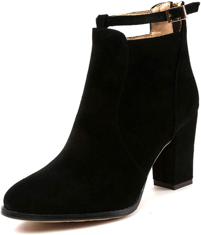 GordonKo Women shoes Winter Autumn Casual Women High Heels Pumps Warm Ankle Boots