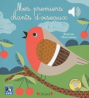 Mes premiers chants d'oiseaux – Livre sonore avec 6 puces – Dès 1 an