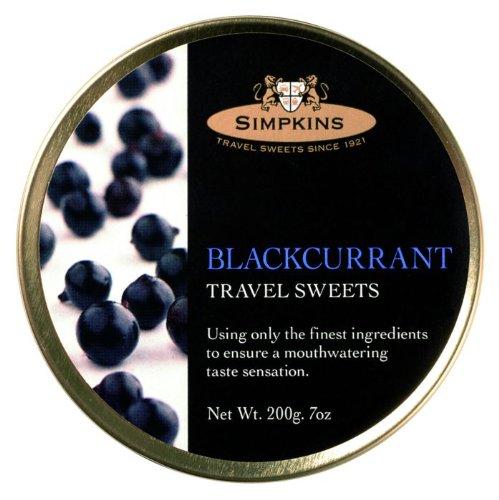 Simpkins Blackcurrant Travel Sweets x 3 tins, 7oz/ 200gms