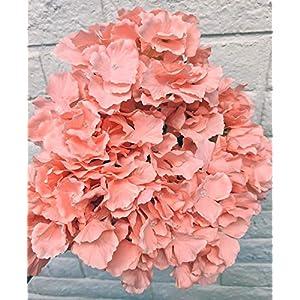 Ooki Hydrangea 7 Branch Bush Stem Artificial Flower Bouquet Garden Floral Display Greenery Decorative Swags Centerpiece