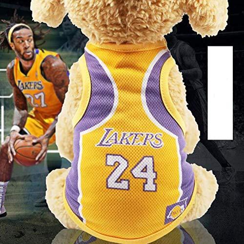 Hididi Pet T-Shirt, Dog Summer Apparel Puppy Pet Clothes for Dogs Cute Soft Vest Football Team (S 9.8' L, Lakers)