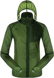 Men's Cycling Packable Rain Coat,Lightweight Waterproof Windbreaker with Hood,Breathable Windproof Raincoat for Running