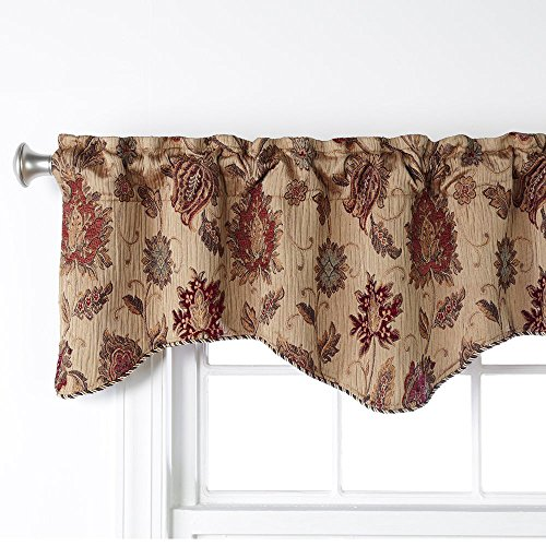 """Stylemaster Home Products Melbourne Valance, 52"""" X 17"""", Wheat"""