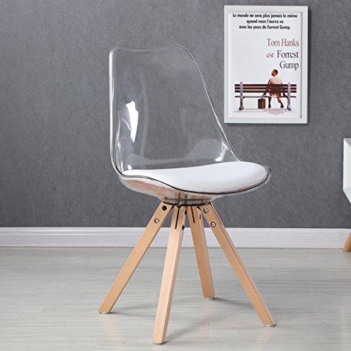 Designetsamaison Chaise scandinave Transparente - Helsinki
