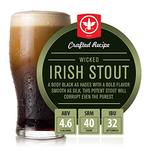 BrewDemon 2 Gal. Wicked Irish Stout Beer Recipe Kit - Makes a Wicked-Good 4.6% ABV Batch of Craft Brewed Beer