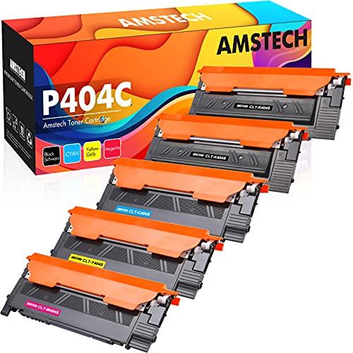 Amstech Kompatibel Tonerkartusche als Ersatz für Samsung CLT-P404C CLT-K404S CLT-C404S CLT-M404S CLT-Y404S Xpress SL C480W C480FW C430W C480 C430 C480FN (Schwarz,Cyan,Gelb,Magenta, 5er-Pack)