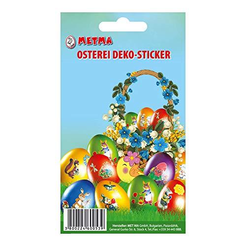 Metma 115 – Adesivi Stampati per Uova di Pasqua, Multicolore
