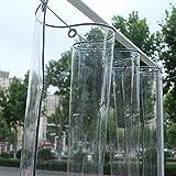Kay Kay Lona Hoja Clara Lona Superior De La Calidad Carpa Plegable, Lona Impermeable Transparente Resistente Al Desgarro Rain Curtain Capota Gazebos (tamao : 1.2x2M)