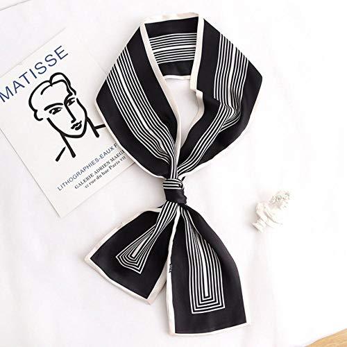 Fijnere Koreaanse streep professionele decoratie sjaal damesmode lint simulatie zijde dunne en lange sjaal bindende haarband, zie grafiek 2