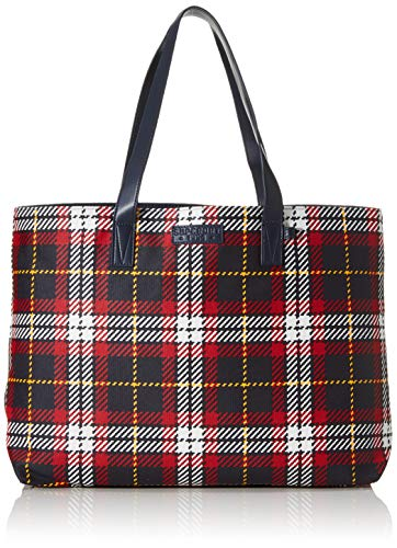Superdry tas ADEENA CANVAS TOTE Red Check