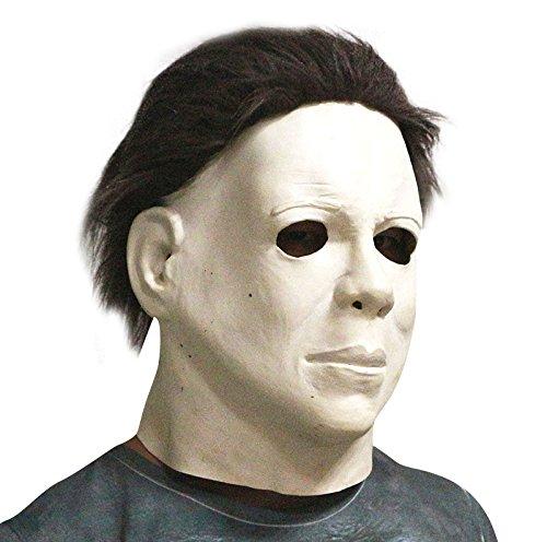 thematys Michael Myers Horror-Film Killer Maske - perfekt für Fasching, Karneval & Halloween - Kostüm für Erwachsene - Latex, Unisex Einheitsgröße