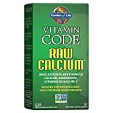 Garden of Life Raw Calcium Supplement, Vitamin Code Whole Food Calcium Vitamin for Bone Health, Vegetarian, 120 Capsules Packaging May Vary