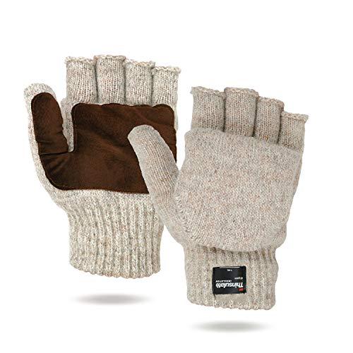 Illinois Glove Company Rag Wool Glomitt Flip Mitten 3M Thinsulate...