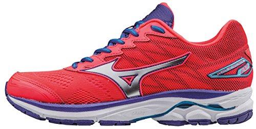 Mizuno Wave Rider 20 (w), Zapatillas de Running para Mujer, Rosa (Diva Pink/Silver/Liberty), 36 EU