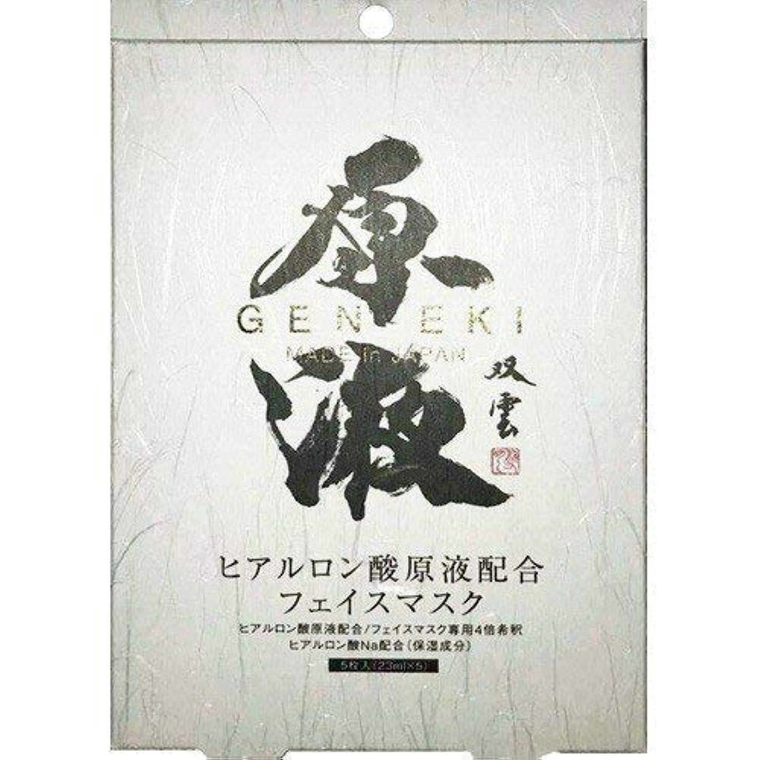 差し控えるシャット小説ヒアルロン酸原液配合フェイスマスク (23mL × 5枚)