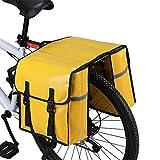 WILDKEN Alforjas para Portaequipajes de Bicicleta, Bolsas Traseras para Bicicletas MTB Sillines Pannier Bag Impermeable Bicicleta Carretera Asiento Trasero (Amarillo)