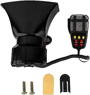 Hlyjoon Warning Alarm Emergency Horn 120db Super Loud 7 Tone Police Fire Ambulance Siren Speaker with Mic 12V 100W Spund Loudspeaker Car Motorcycle Universal