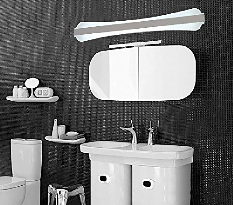 Frontspiegelleuchten Spiegelfrontlicht führte wasserdichte Anti-Fog-Badezimmerbadezimmerspiegel-Wandlampe Europisches einfaches modernes unbedeutendes Knopfkabinettlicht führte helles rechteckiges Wei ( Style   50CM-16W )