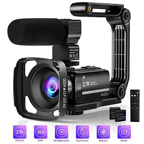 Yoroshi 2.7K Video Camera Camcor...