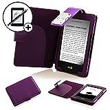 Forefront Cases Kindle 2016 Modelo 8ª Generación Funda Carcasa Caso Case Cover con extraíble LED luz de Lectura - Extra Acolchado Protección Completa del Dispositivo + Lápiz y Pantalla (Morado)