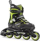 Rollerblade Spitfire St Junior Inline Skate, Unisex, 07850700 T83, Negro/Verde, 33-36.5