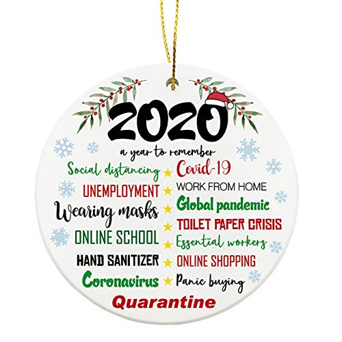 Molili Grinch Christmas Ornaments,2020 Stink Stank Stunk 3 Inch Personalized Christmas Hanging Ornament for Xmas Tree Decorations, Two-Side Printed Gold Ribbon Included 2 Pcs
