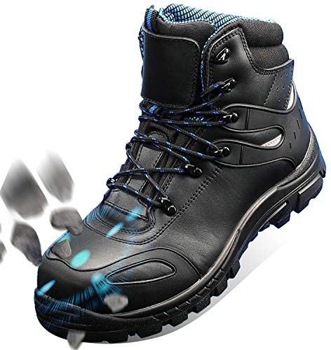 GLORYA Work Boots for Men, Composite Toe Waterproof Leather Safety Shoes