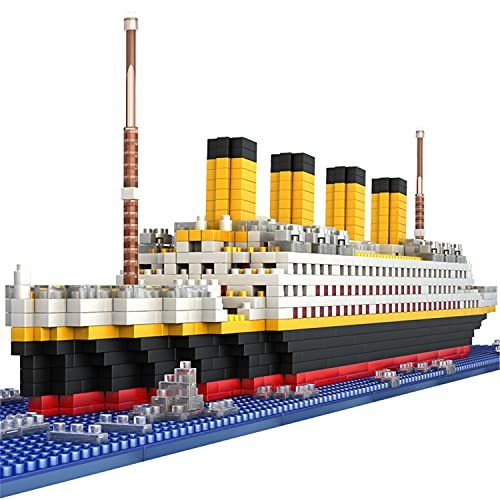 BIDIUTOY Titanic Ship Model Building Block Set, 3D Puzzle Sets DIY Educational Toys, Bricks Toy-with 1860Pcs Micro Mini Blocks, Ideal Gift for Kids & Adults