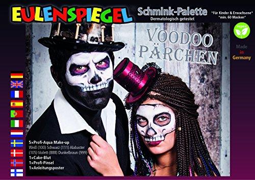 Eulenspiegel Voodoo Pärchen Schminkpalette