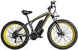 Bicicleta Eléctrica Plegable Bicicleta eléctrica de la nieve, 500W / 1000W Bicicleta eléctrica de la montaña 26 '' Bicicleta profesional plegable con 48V 13Ah Batería de iones de litio de litio 21 Cam