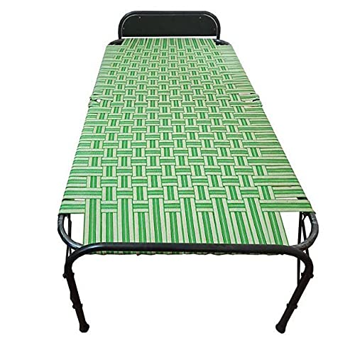 AARAM CHARPAI UDYOG Niwar Folding Bed Single Small Size (36 X 72 Inch)   Portable Bed (Single, Pillow Support)