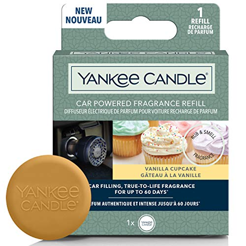 YANKEE CANDLE 1627175E Ricarica diffusore di profumi alimentati per Auto, Cupcake alla Vaniglia