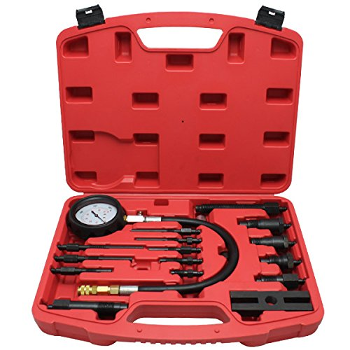 huigou HG® Kompressionstester Diesel Drucktester Kompressionsprüfer Zylinder Dieselmotor Meßgerät Testgerät Werkzeug TDI CDI Testgerät 17tlg LKW