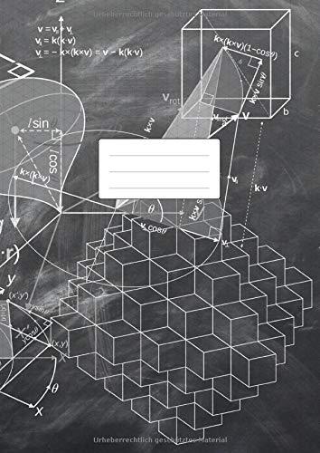 Isometrisch Zeichnen - Isometrieblock - DIN A4: Zeichenbuch mit Isometrie Papier | 100 Seiten | Dreieck 3D Matrix 1/4 Zoll Gleichseitig | Softcover Geometrie Motiv