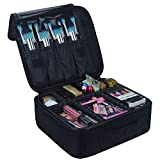 Relavel Travel Makeup Train Case Makeup Cosmetic Case Organizer Portable Artist Storage Bag with Adjustable Dividers for...