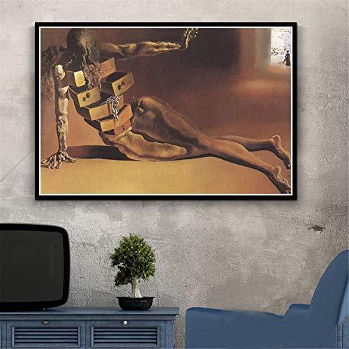 Puzzle 1000 Piezas Pintura psicodélica Retro Salvador Dali Surrealismo Arte de Pared Abstracto Puzzle 1000 Piezas educa Juego de Habilidad para Toda la Familia, Colorido Juego de u50x75cm(20x30inch)