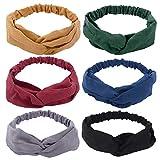 6 Pack Headbands for Women Twisted Headband Womens Hair Accessories Knotted Headbands for Women Elastic headbands